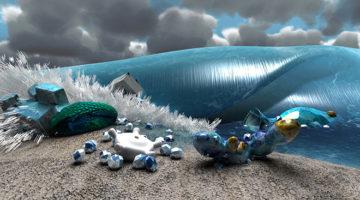 Giuliana-Cuneaz_Matter-waves-chrome_2014-2016_animazione-3D_videoinstallazione_0