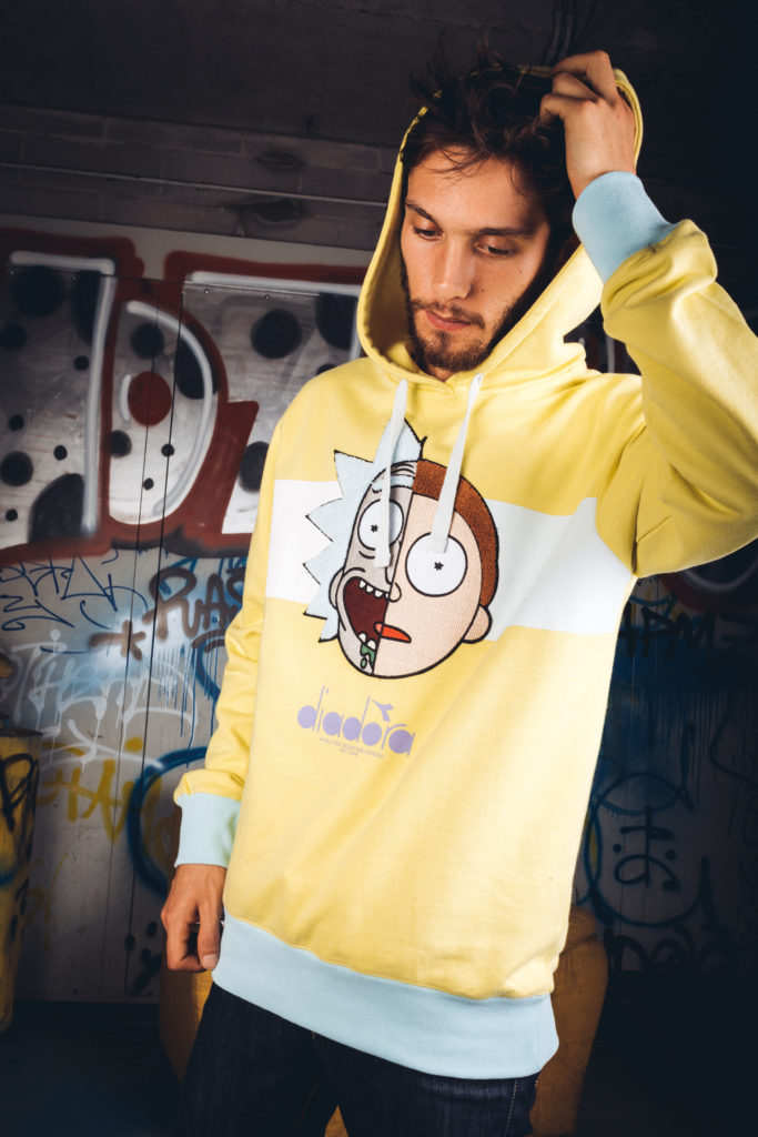 Diadora x Rick & Morty_Hoodie Rick Sanchez e Morty Smith_1