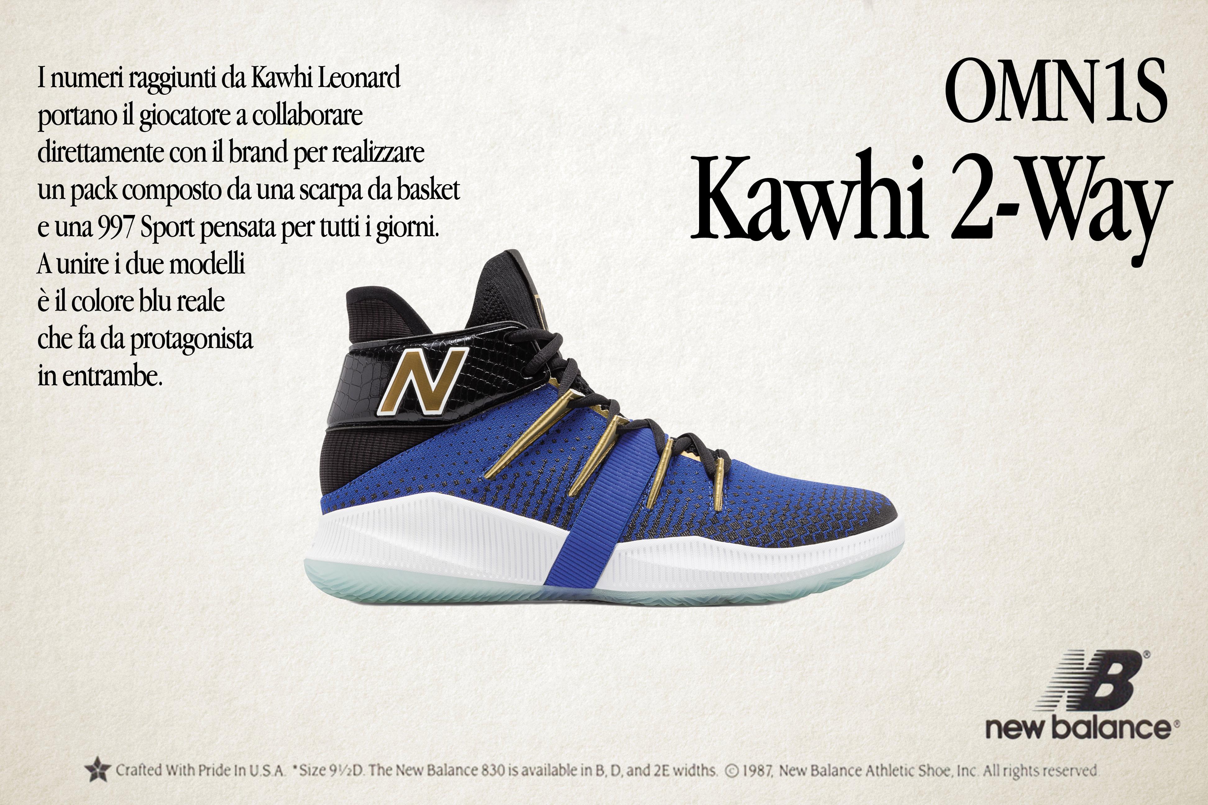 New Balance in NBA con Leonard Kawhi